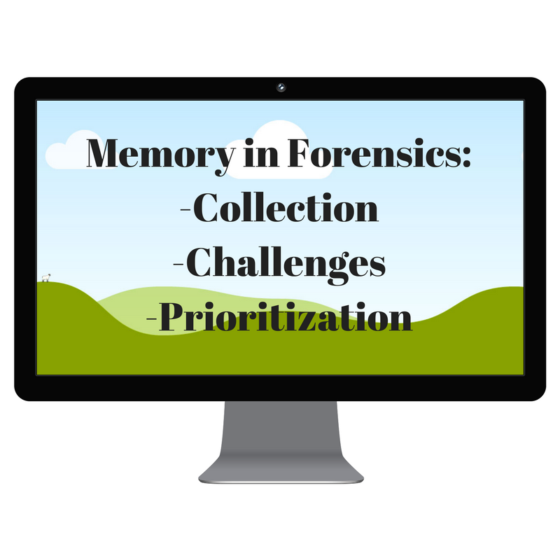 Forensics Sources Part 2: Memory – Career Advice for Women in Security